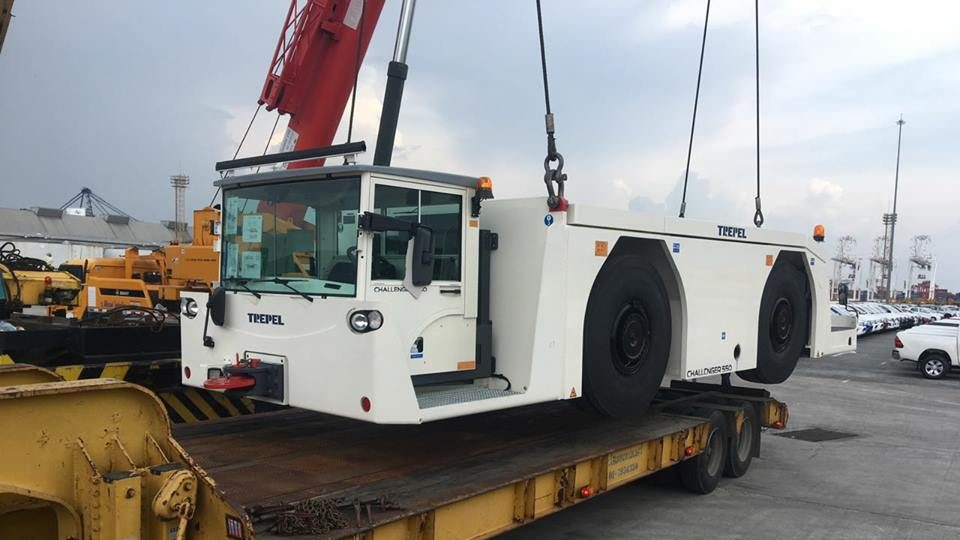 Import 55 tons airport truck from Germany to Thailand